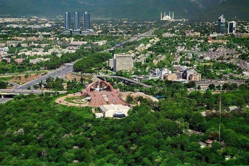 Ciudad hermosa de Paquistán Islamabad, fotografía de archivo
