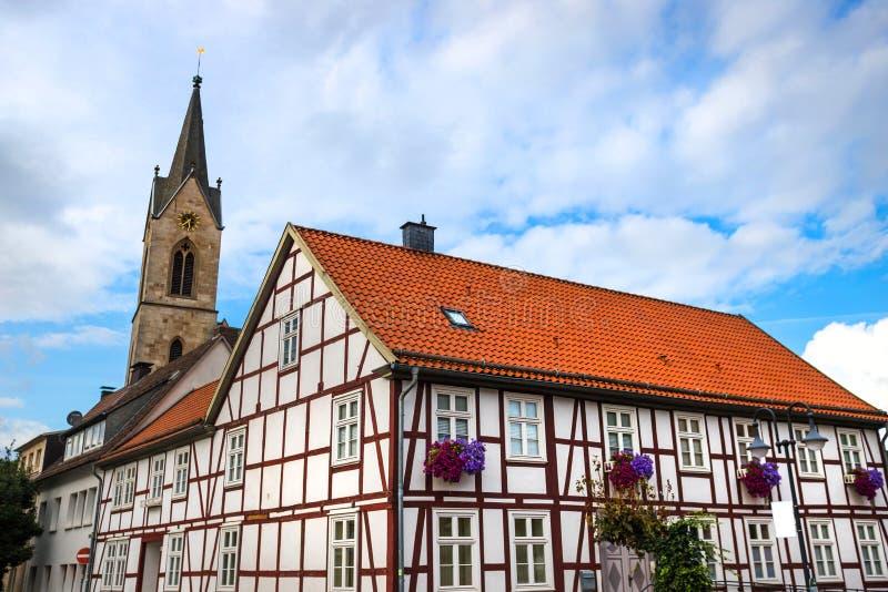Ciudad histórica de Marsberg en la germanada de sauerland imagen de archivo