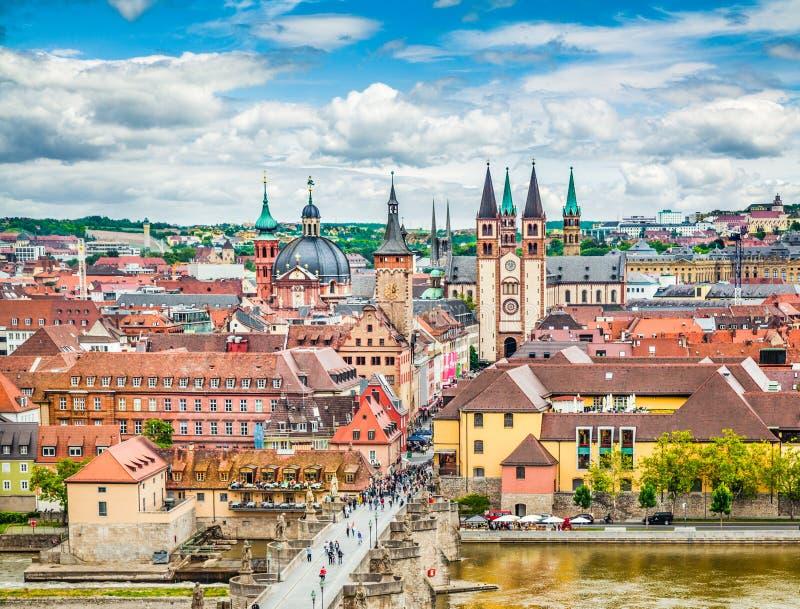 Ciudad histórica del rzburg del ¼ de WÃ, Baviera, Alemania fotografía de archivo