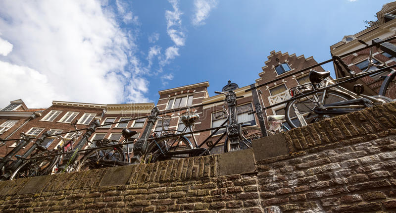 Ciudad histórica Países Bajos de Utrecht foto de archivo