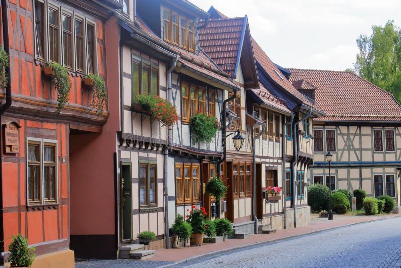 Ciudad histórica vieja Stolberg en Harz, Alemania imagen de archivo