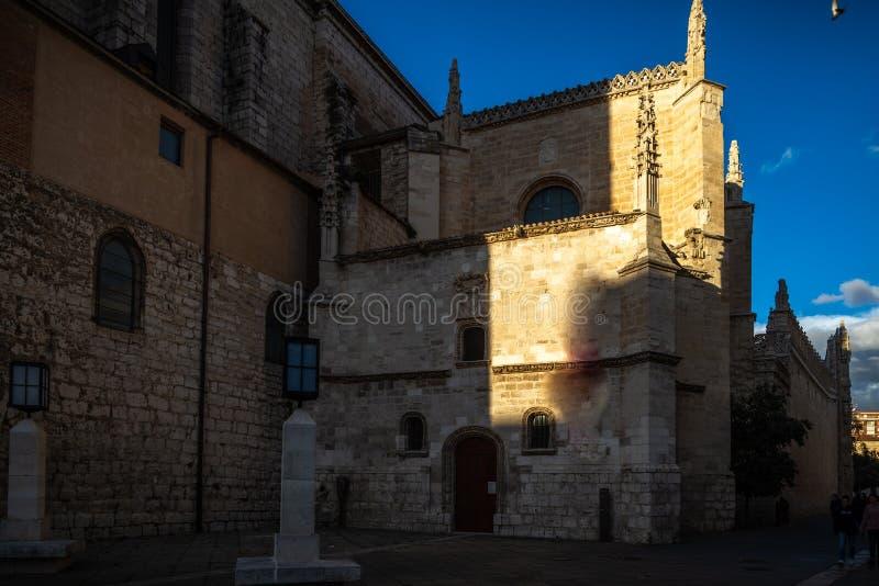 Ciudad histórica y cultural de Valladolid, España, imágenes de archivo libres de regalías