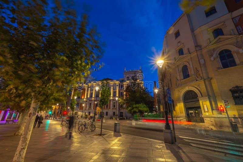 Ciudad histórica y cultural de Valladolid, España, fotografía de archivo libre de regalías