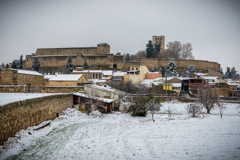 Ciudad histórica y cultural, en el centro de España foto de archivo