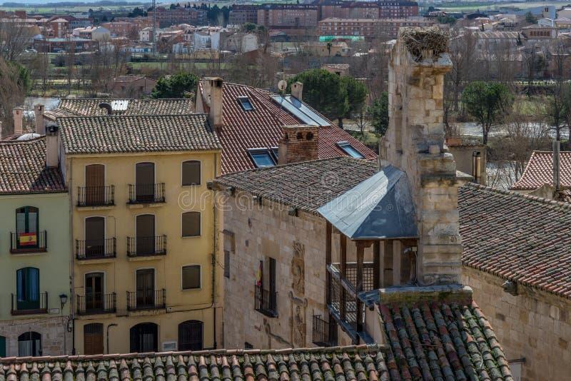 Ciudad histórica y cultural, en el centro de España imagen de archivo libre de regalías