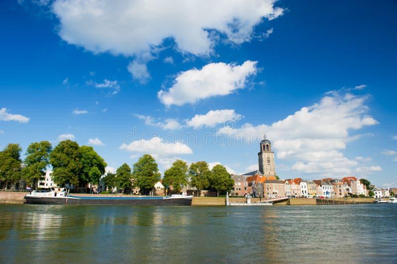 Ciudad holandesa Deventer foto de archivo libre de regalías