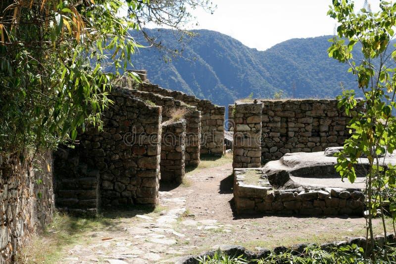 Ciudad Incan antigua de Machu Picchu, Perú foto de archivo