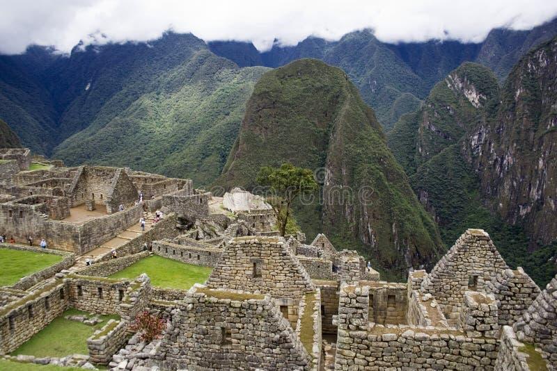 Ciudad Incan antigua de Machu Picchu, Perú fotografía de archivo libre de regalías