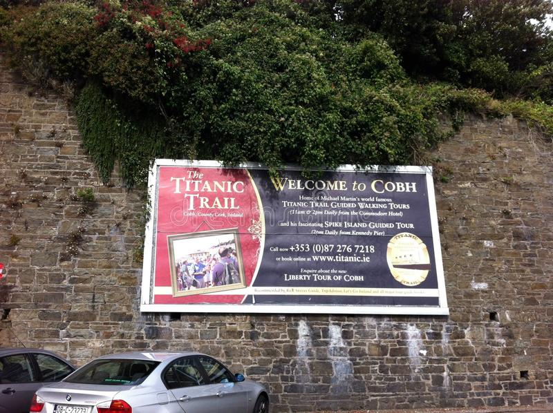 Ciudad Irlanda de Cobh imagen de archivo libre de regalías