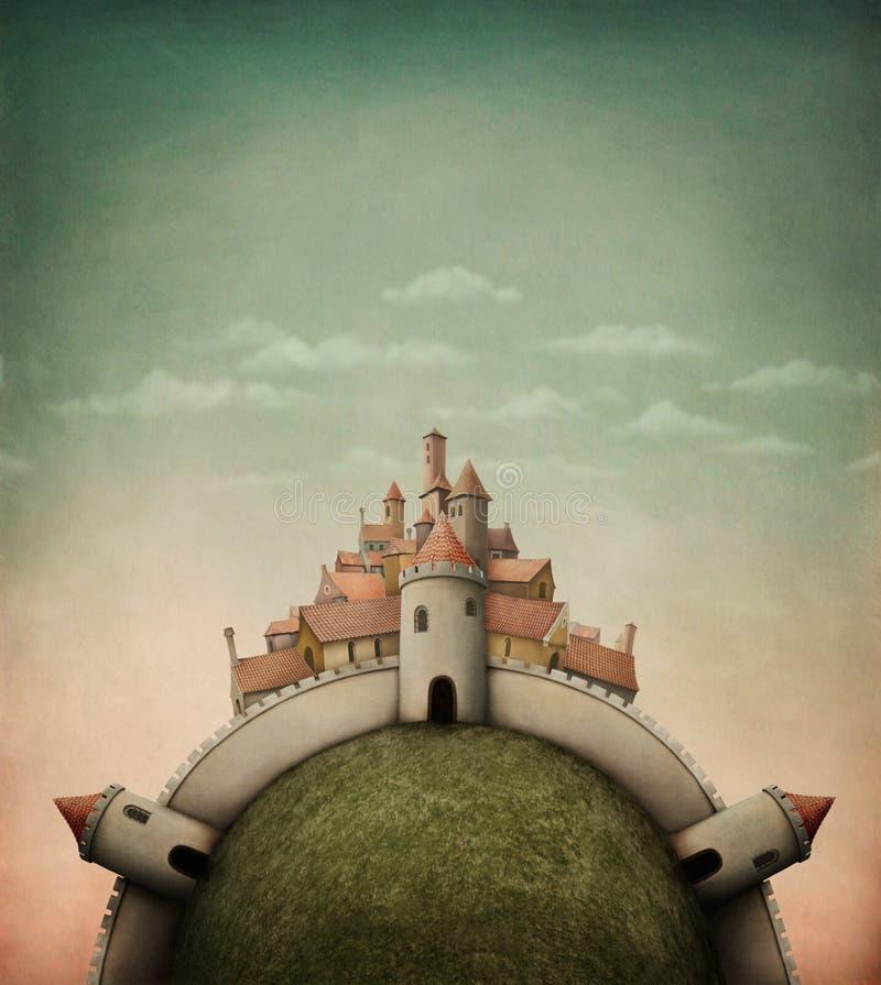 Ciudad-Isla ilustración del vector