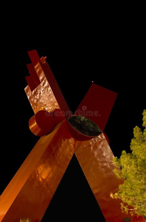 CIUDAD JUAREZ-CHIHUAHUA-MEXICO-JULI-2013:Het Monument aan Mexicanity is een stedelijk monumentaal beeldhouwwerk royalty-vrije stock afbeeldingen