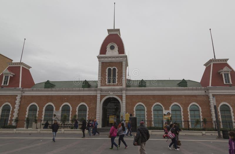 CIUDAD JUAREZ-CHIHUAHUA-MEXICO-MARCH-2019:由它的首字母缩略词的博物馆MUREF,接触这个城市的历史的主要题材 免版税库存照片