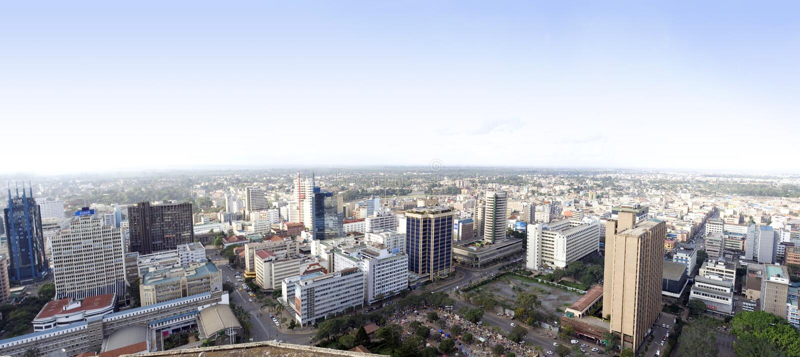 Ciudad Kenia de Nairobi fotos de archivo libres de regalías