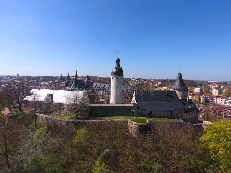 Ciudad mediecal de Altenburgo Alemania del castillo imagen de archivo