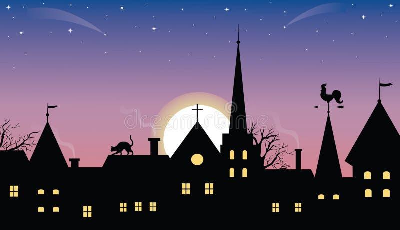 Ciudad medieval. stock de ilustración