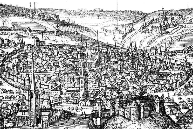 Ciudad medieval fotografía de archivo libre de regalías