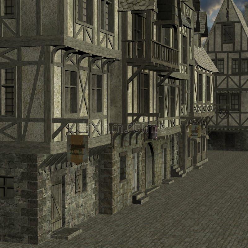 Ciudad medieval libre illustration