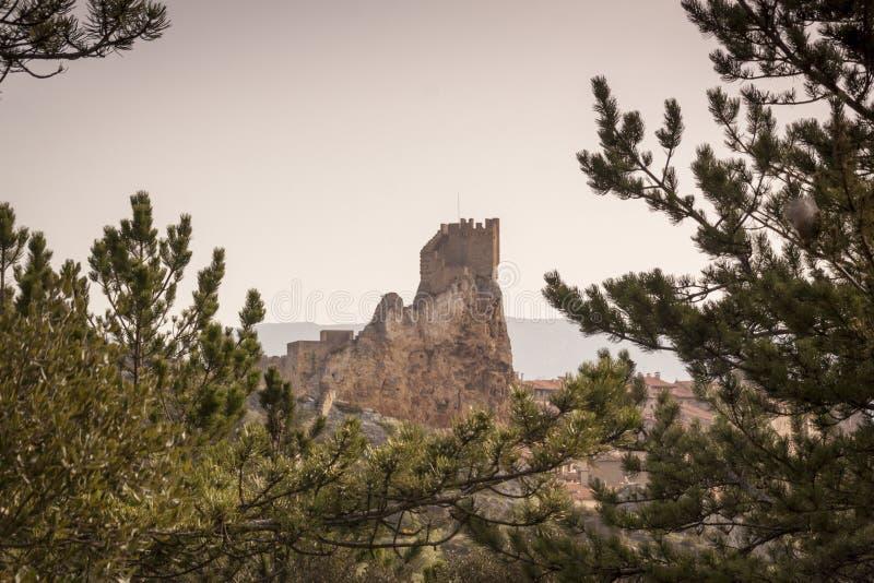 Ciudad medieval de FrÃas en Burgos, Castilla y León españa foto de archivo libre de regalías