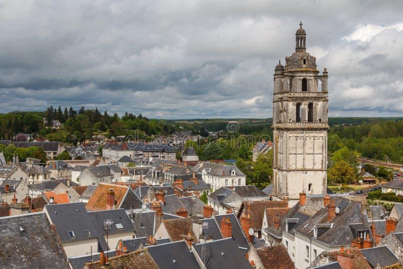 Ciudad medieval de Loches imagen de archivo libre de regalías