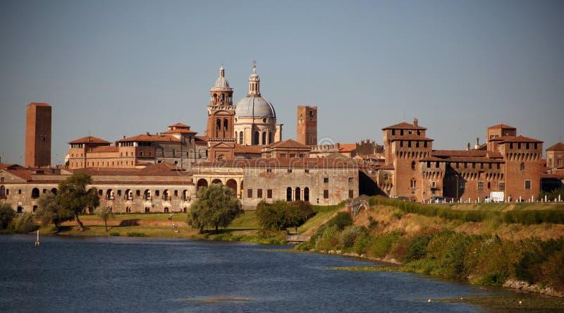Ciudad medieval de Mantova, Italia foto de archivo libre de regalías