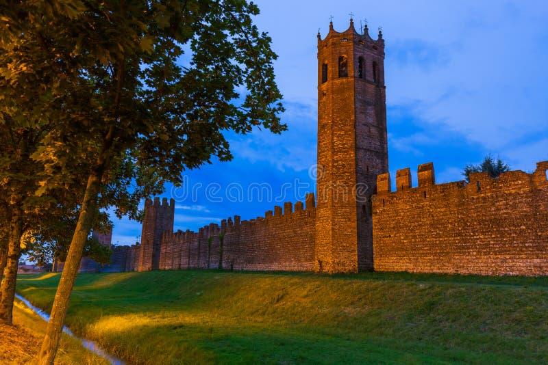 Ciudad medieval de Montagnana en Italia fotografía de archivo libre de regalías