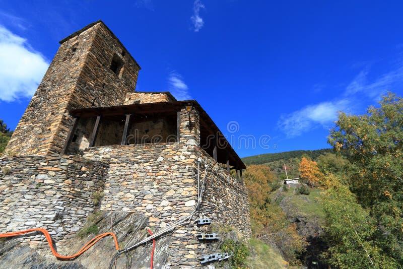 Ciudad medieval de Os de Civis, España foto de archivo