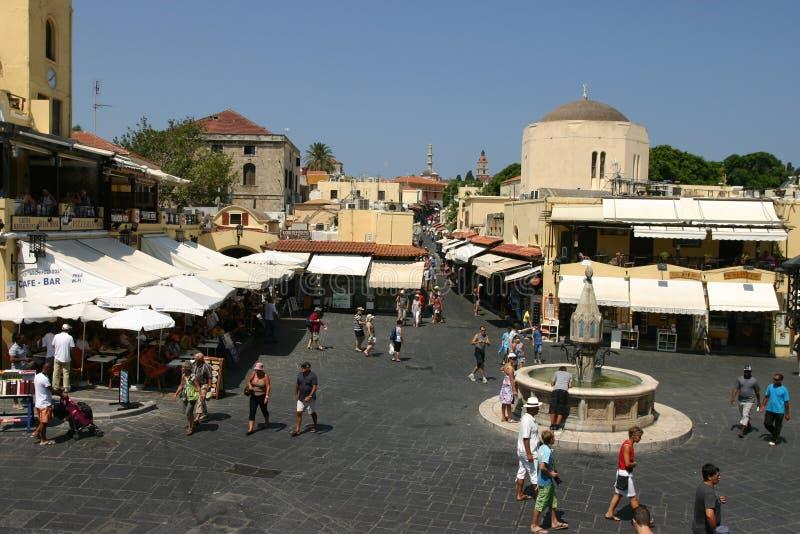 Ciudad medieval de Rodas, ciudad vieja fotografía de archivo libre de regalías