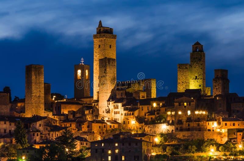 Ciudad medieval de San Gimignano, Toscana imagen de archivo