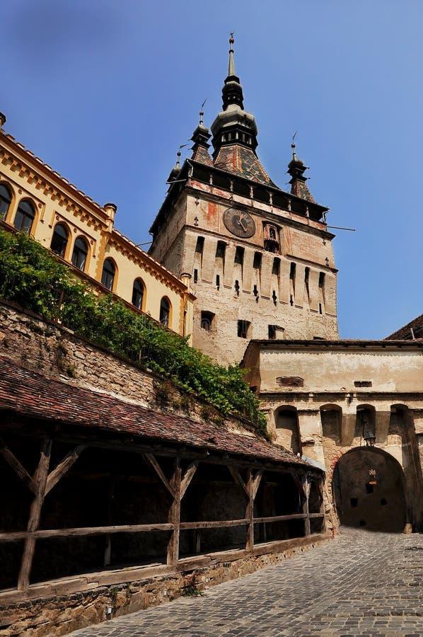 Ciudad medieval de Sighisoara foto de archivo libre de regalías