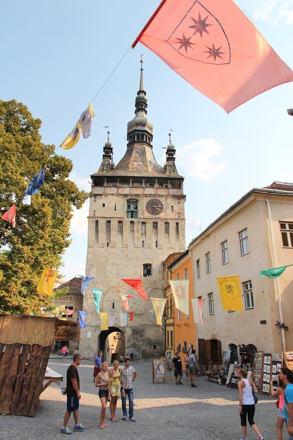 Ciudad medieval del sighisoara fotografía de archivo libre de regalías