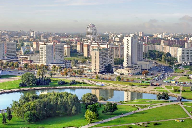 Ciudad Minsk imagen de archivo