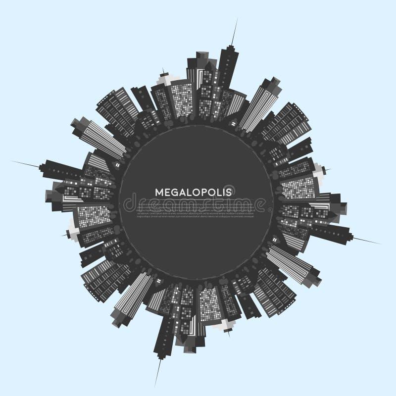 Ciudad moderna del círculo del vector libre illustration
