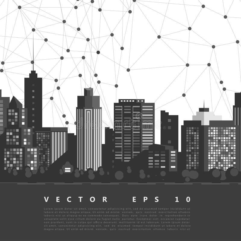 Ciudad moderna del vector stock de ilustración