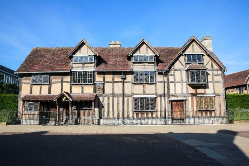 Ciudad natal de Shakespeare foto de archivo