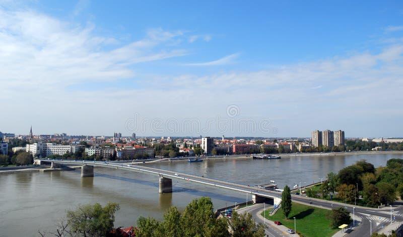 Ciudad Novi de Serbia triste imagen de archivo