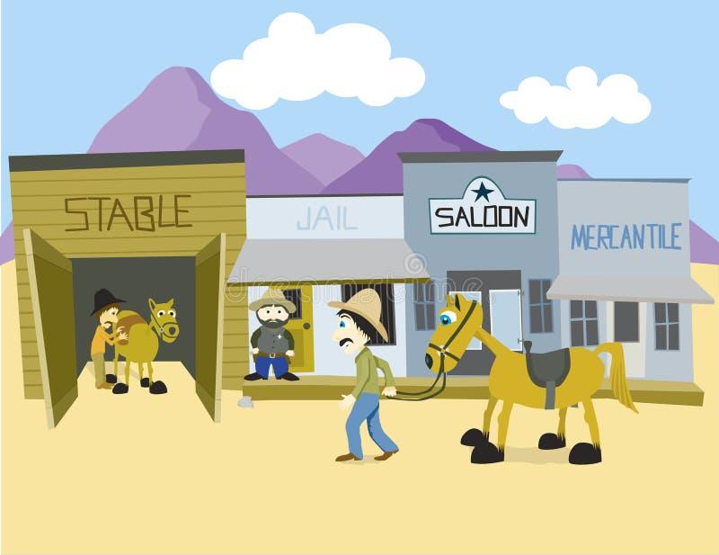 Ciudad occidental libre illustration