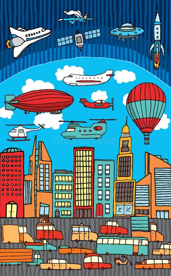 Ciudad/metrópoli ocupadas ilustración del vector