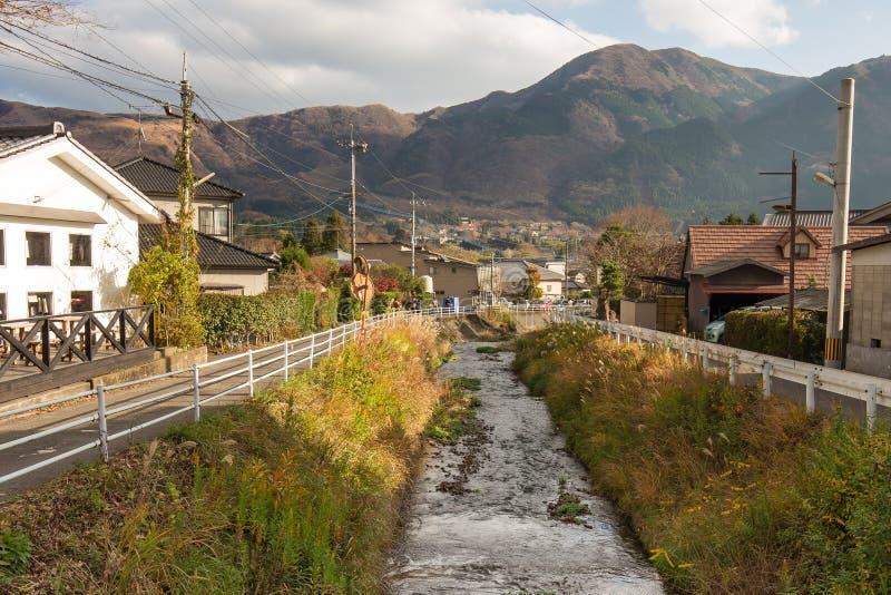 Ciudad Oita, Japón de Yufuin fotografía de archivo libre de regalías