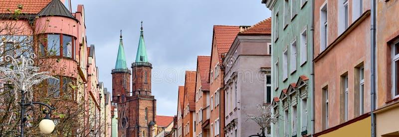 Ciudad panorámica de la imagen de Legnica imagen de archivo