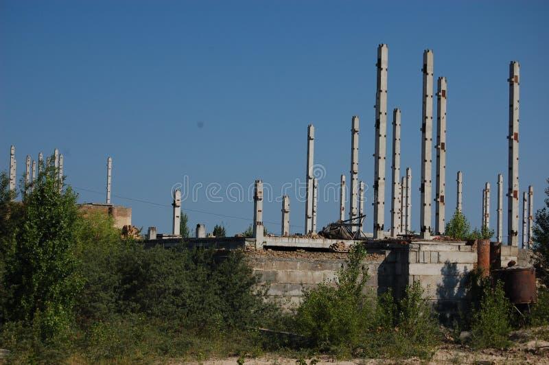 Ciudad perdida. Área de Chernobyl. imágenes de archivo libres de regalías