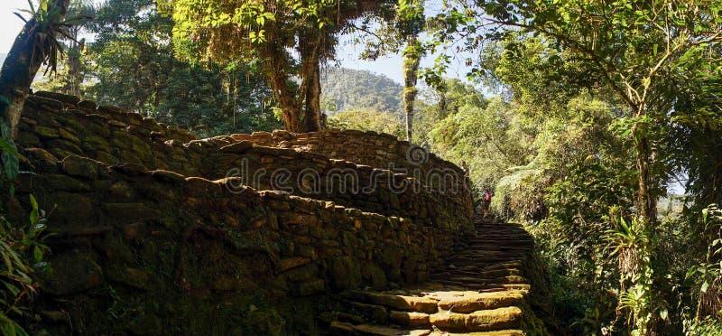 Ciudad Perdida aka den borttappade staden i Colombia arkivbild