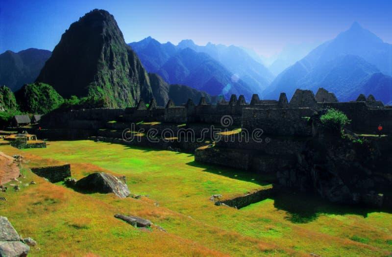 Ciudad perdida de Machu Picchu fotografía de archivo