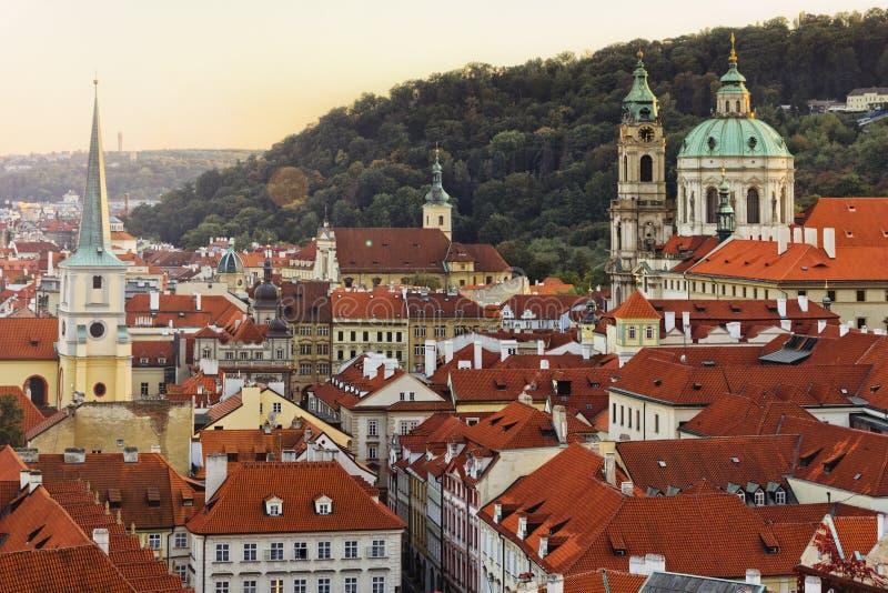 Ciudad Pragua en Checo imagen de archivo libre de regalías