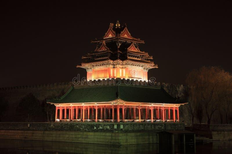 Ciudad prohibida en la noche fotografía de archivo libre de regalías