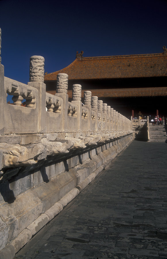 Ciudad prohibida, Pekín imagen de archivo
