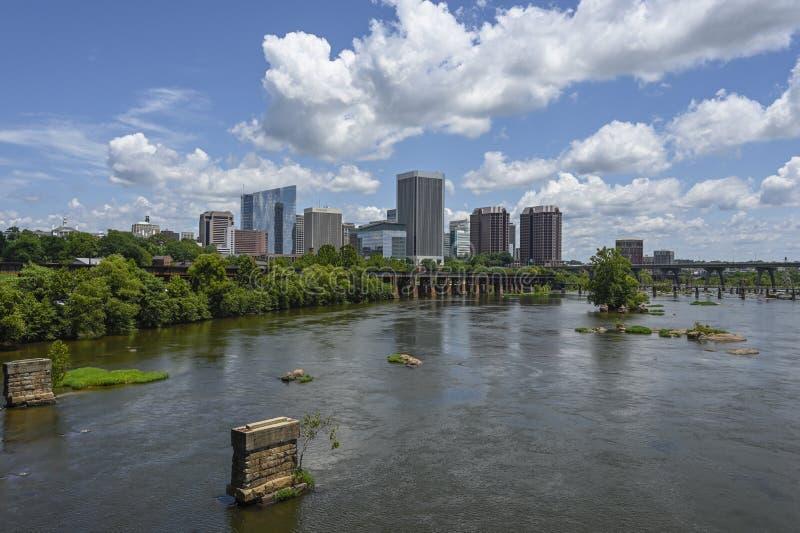 Ciudad Richmond Virginia RVA del río imagenes de archivo
