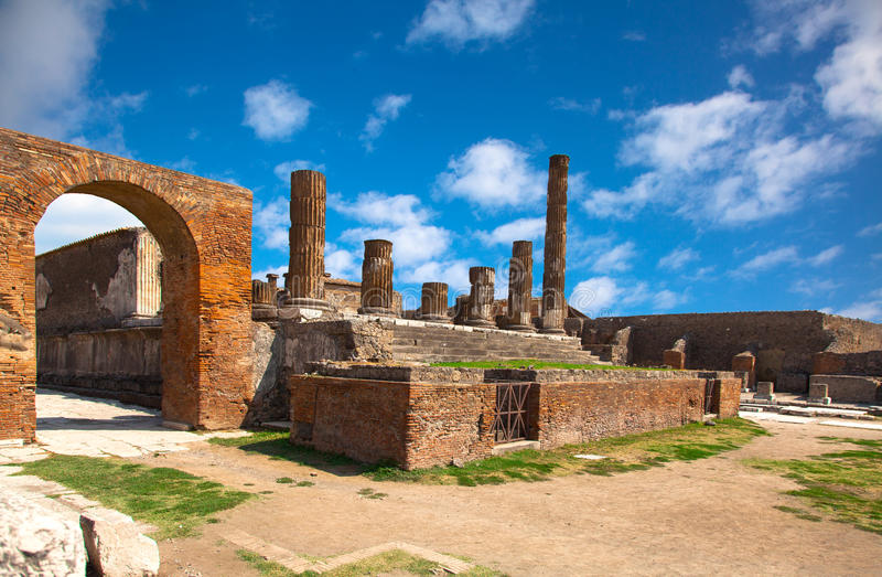 Ciudad romana antigua de Pompeya, fotos de archivo