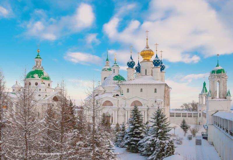 Ciudad rusa de Rostov Veliky imagen de archivo libre de regalías