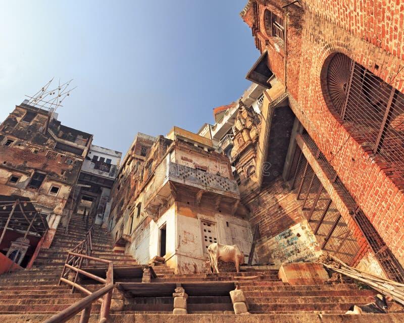 Ciudad santa de Varanasi, la India imagenes de archivo