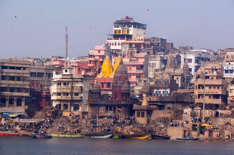 Ciudad santa de Varanasi, la India fotografía de archivo libre de regalías